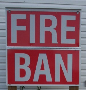 FIRE BAN in Effect for Huron Shores:  May 9, 2016