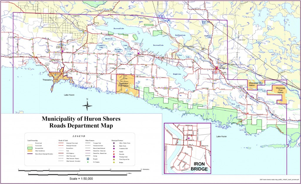 Municipality of Huron Shores Roads Department Map