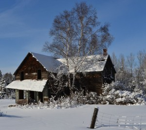 Abandoned Homestead - Winter Scene