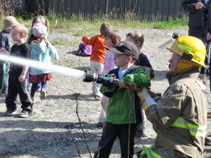 Young Firefighters in Training