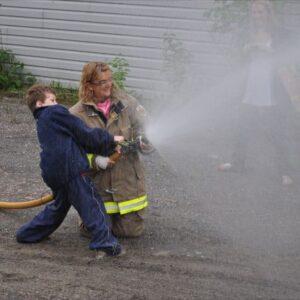 Firefighter Hose Demo