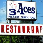 3 Aces Restaurant Sign