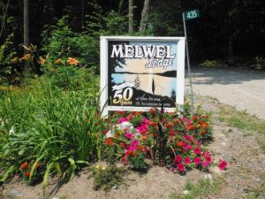 Melwel Lodge Sign
