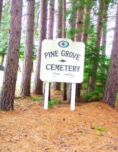 sign at Pine Grove Cemetery