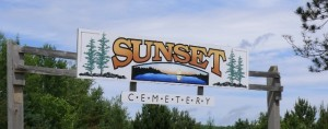 Sunset Cemetery Main Sign - 23044 Hwy 17, East of Iron Bridge