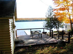 View of Birch Lake from cabin 5