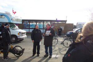 Councillor Ted Linley & Relay MC