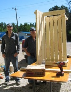 Cameco Cares Day - Finishing the Benches
