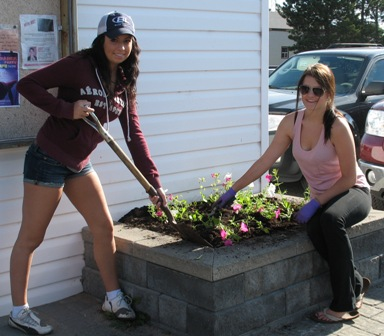 Cameco Cares Day - Municipal Office Flowerbeds