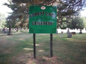sign at Forest Lawn Cemetery