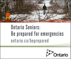 Ontario Seniors:  Be prepared for emergencies