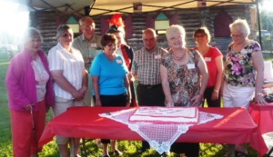 Thessalon Township Heritage Association Members - Cake Cutting