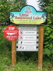 Little Basswood Lake Park Sign