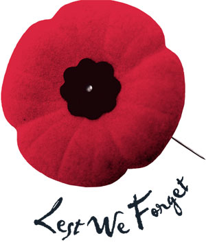 Remembrance Day - November 11 Lest We Forget