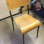 six wooden stacking chairs without arms 1 of 1