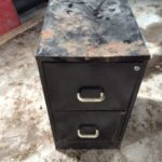 2-drawer metal filing cabinet 1 of 1