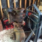 large Ford 4-cylinder motor with priming centrifugal sled water pump 2 of 2
