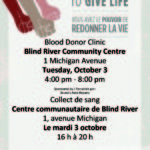 October 3 – Blood Donor Clinic