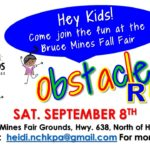 Obstacle Run – September 8