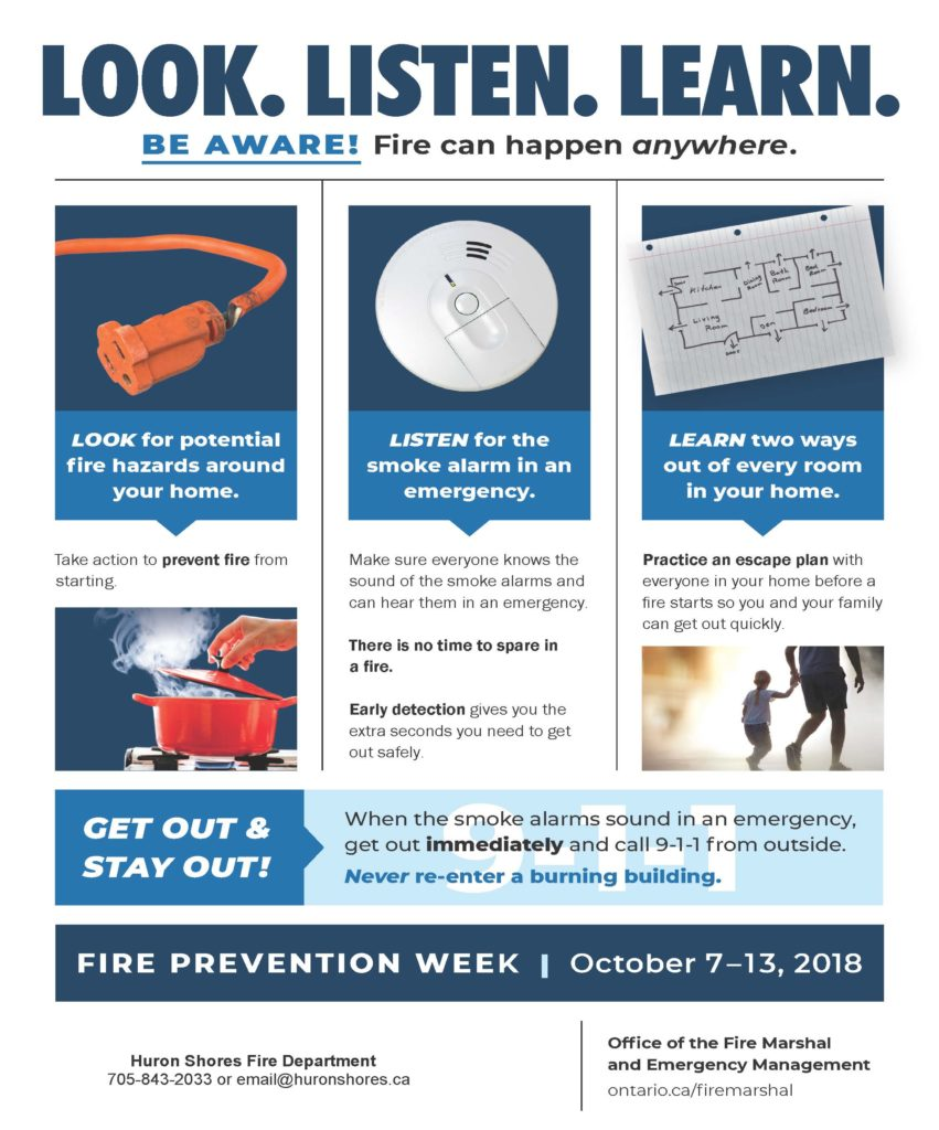 Fire Prevention Week 2018 Look Listen & Be Aware