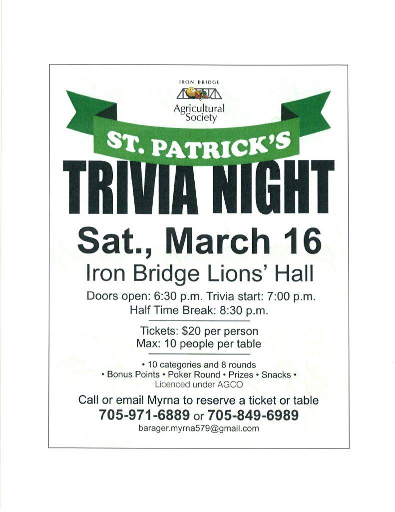 IB Ag Society's St Patrick's Trivia Night