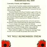 Remembrance Day Announcement