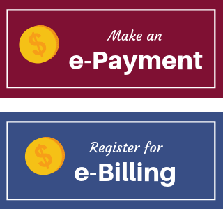 e-payment and e-billing button