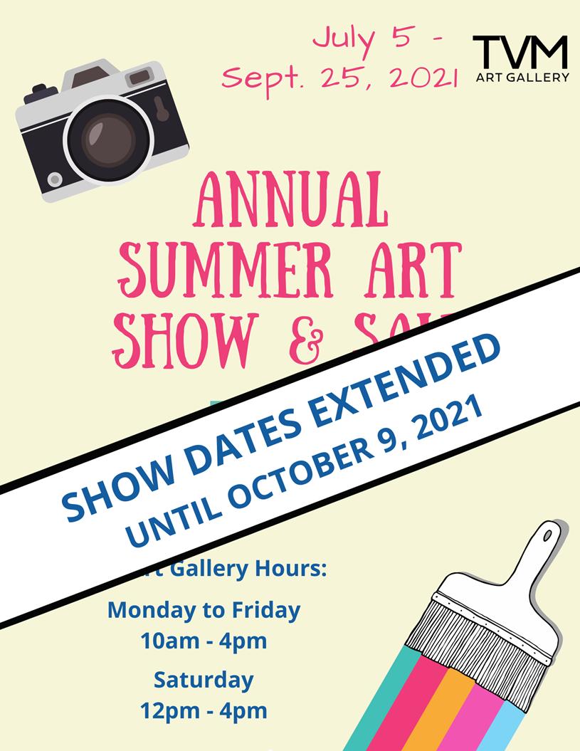 Timber Village Art Show Extended until October 9, 2021